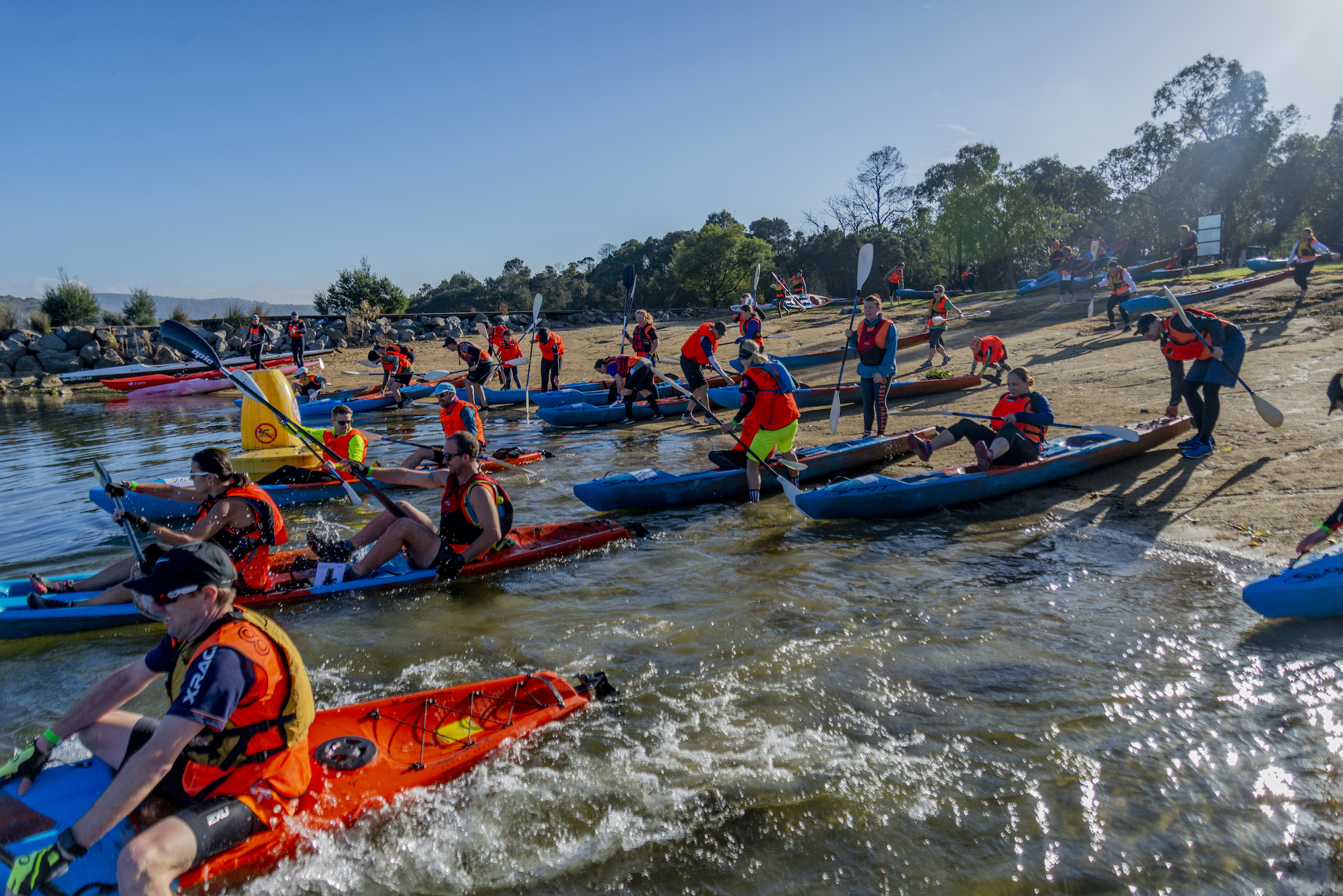 lysterfield sprint series 19 novice set off to kayak
